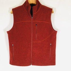 Ibex Wool Vest Mens Medium Orange NWOT